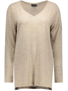 vilune long knit top gv 14036384 vila trui soft camel