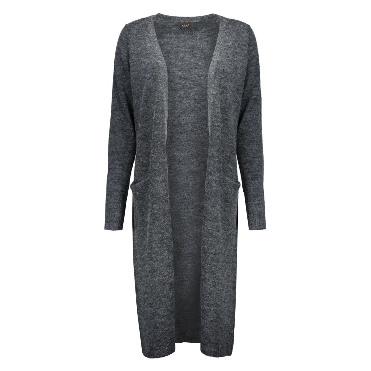 riva long knit cardigan-noos 14015571 vila vest total eclipse