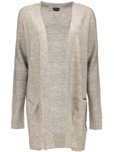 VIRIVA RIB L/S CARDIGAN-NOOS 14035443 Light Grey Melange