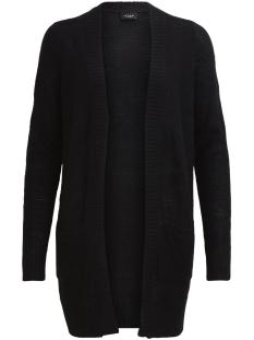 viriva rib l/s cardigan-noos 14035443 vila vest black
