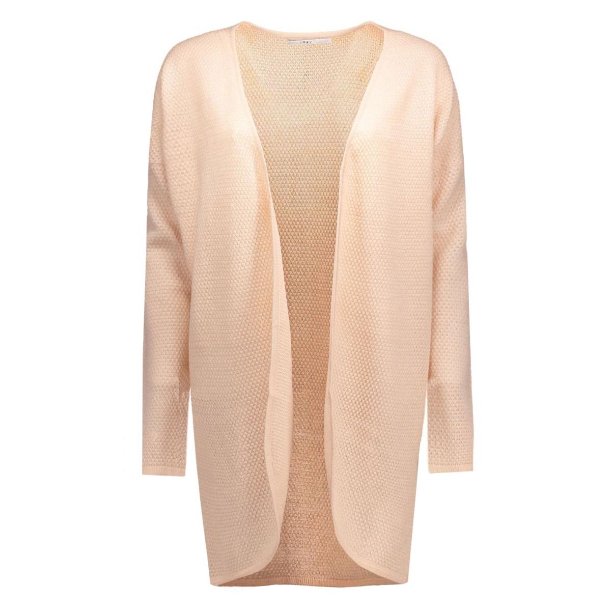 onlviola l/s long open cardigan knt 15114461 only vest peach whip