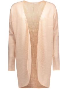 onlviola l/s long open cardigan knt 15114461 only vest peach whip