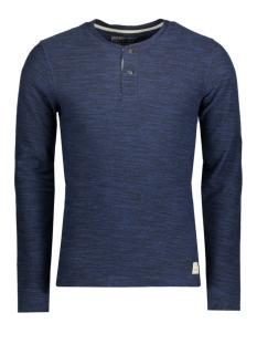 Jack & Jones T-shirt JJVSEBASTIAN LS GRANDDAD NOOS 12110081 Mood Indigo