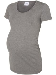 mllea organic s/s top 2pack noos 20006840 mama-licious positie shirt black/ medium grey