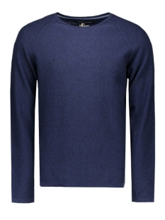 jprsteve knit crew neck noos 12110202 jack & jones trui navy blazer