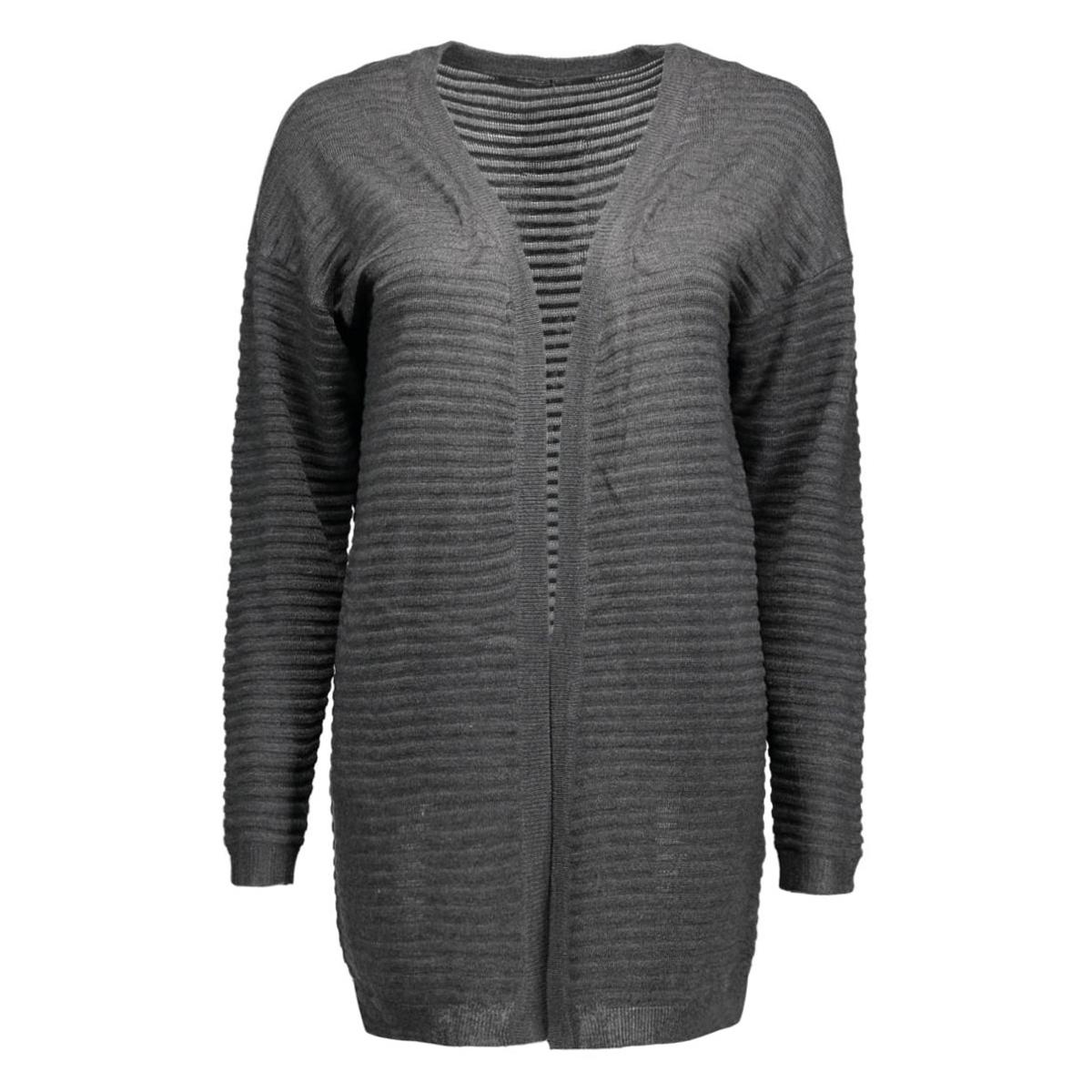 onlolivia new l/s cardigan knt noos 15115121 only vest dark grey melange