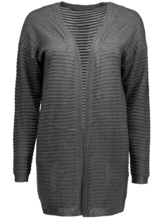 onlolivia new l/s cardigan knt noos 15115121 only vest dark grey melange