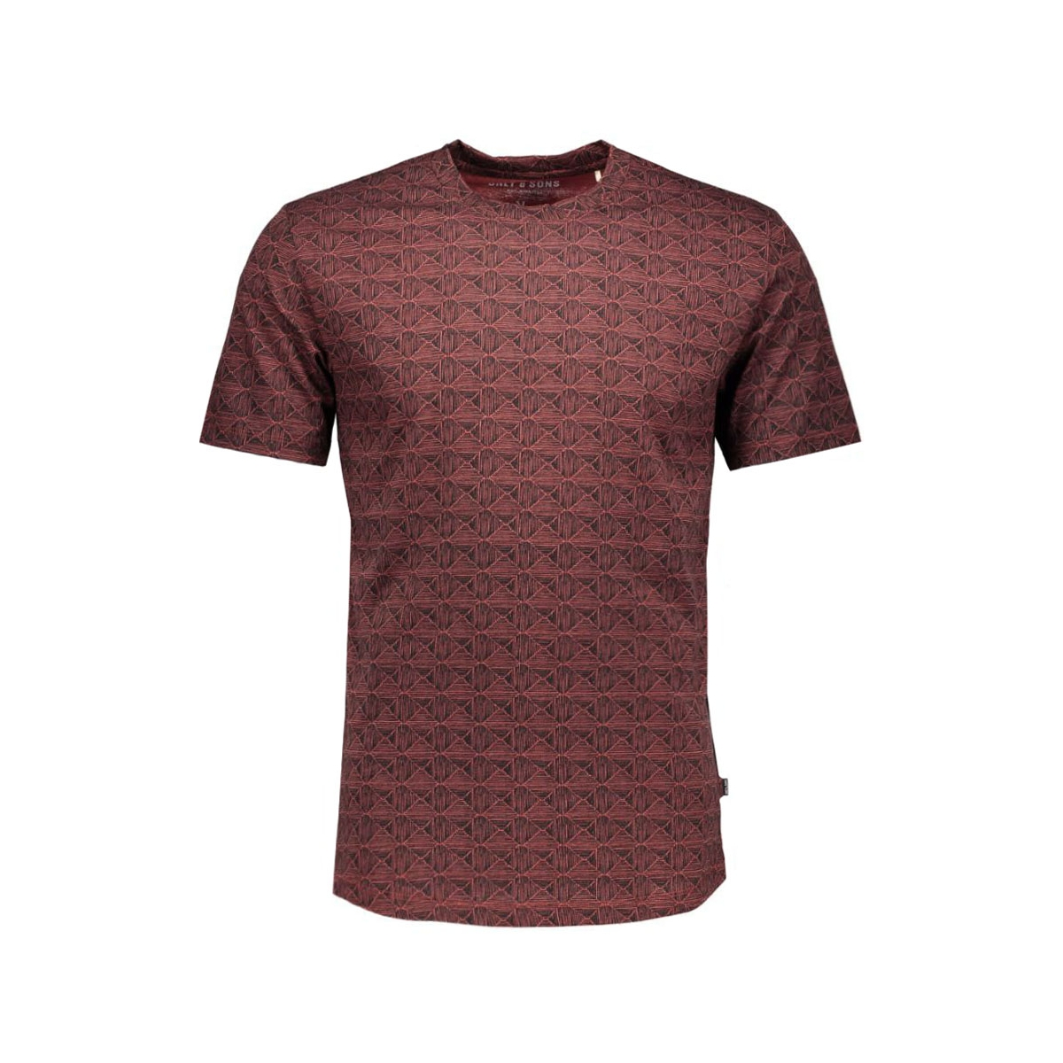 onsnummer fitted tee 22004511 only & sons t-shirt rosewood/melange