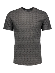 onsnumber fitted tee 22004511 only & sons t-shirt dark grey melan/melange