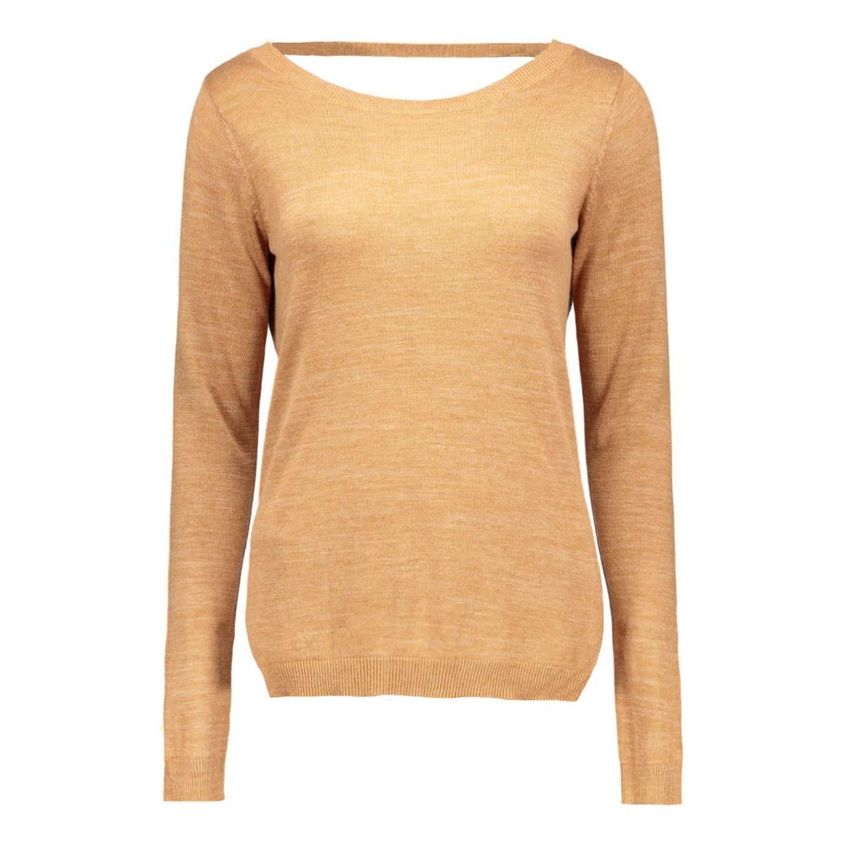 vilesly l/s knit top tb 14035529 vila trui wood thrush