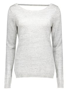 vilesly l/s knit top tb 14035529 vila trui super light grey