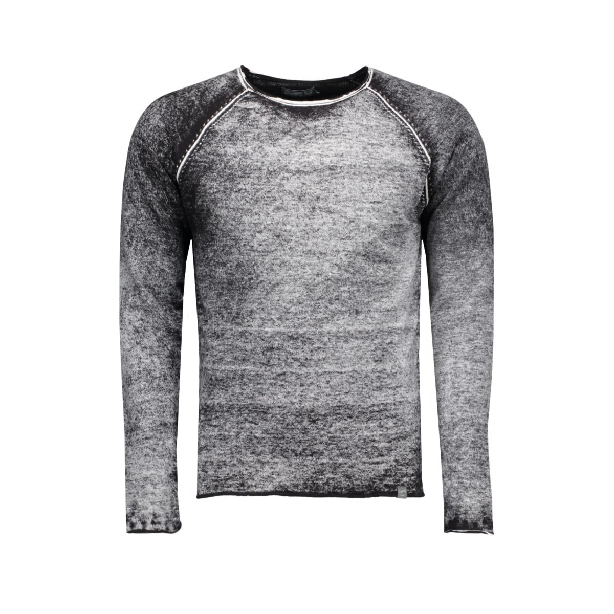 jorpaint knit crew neck 12097042 jack & jones trui black