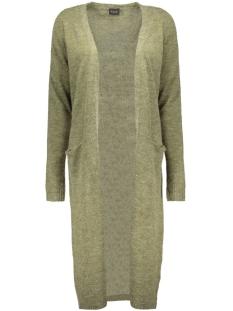 riva long knit cardigan-noos 14015571 vila vest ivy green/melange