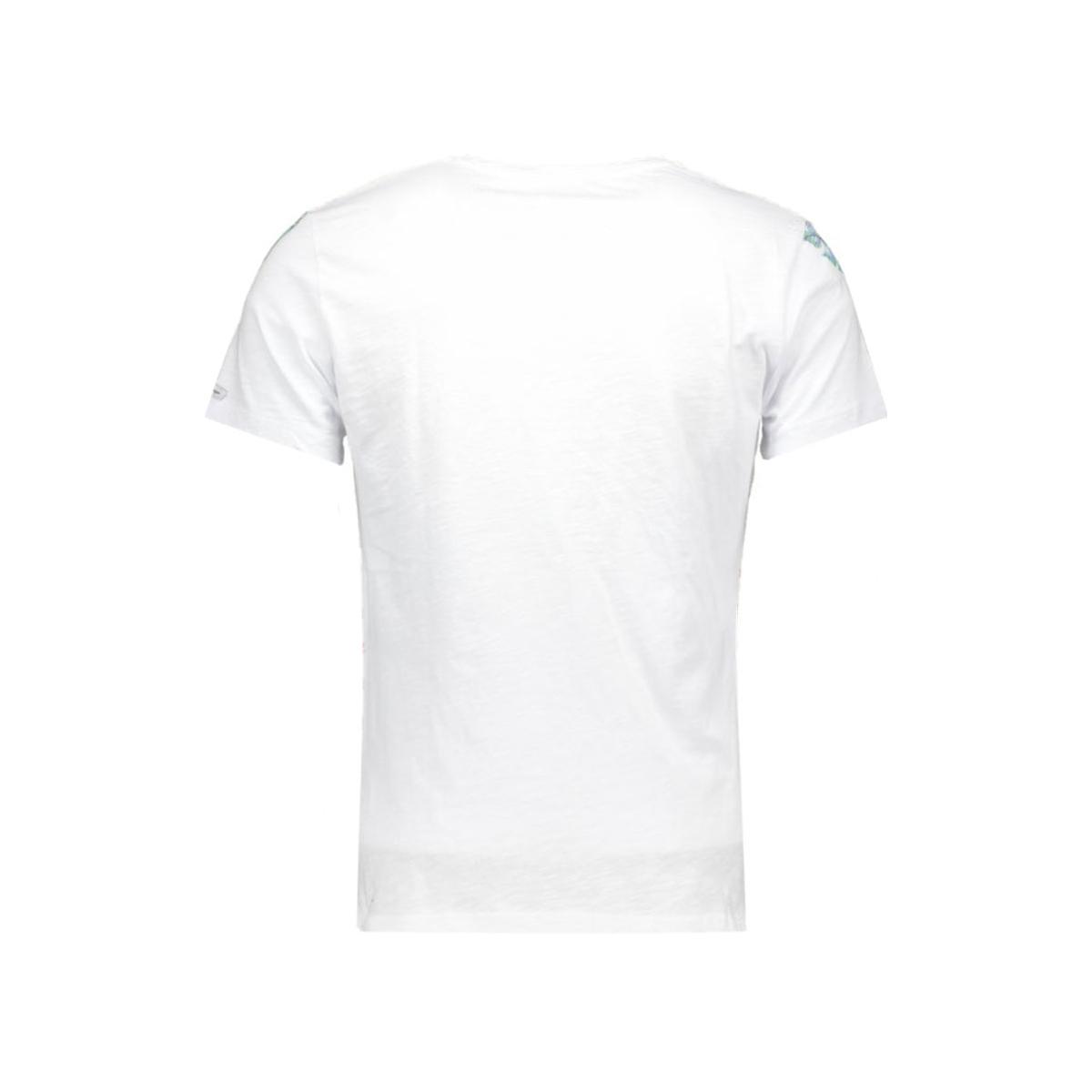 t00749 t palm tree key largo t-shirt 2008 white-red