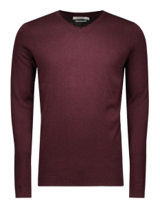 jjprLUCAS KNIT V-NECK NOOS 12092895 Port/Melange