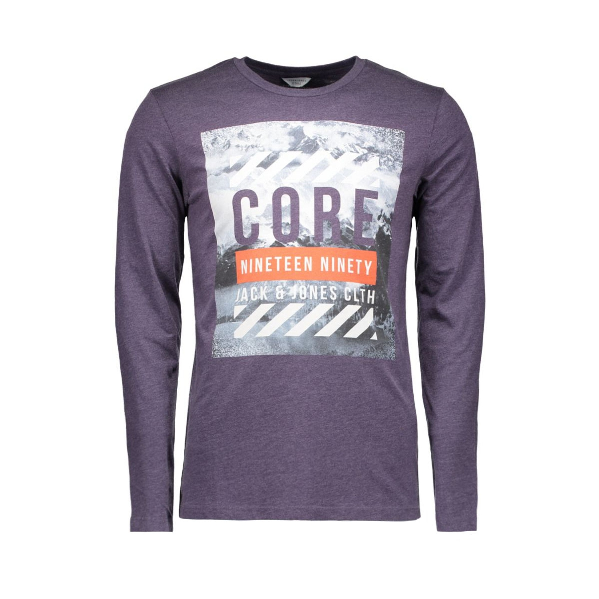 jcodont tee ls crew neck 12113844 jack & jones t-shirt nightshade