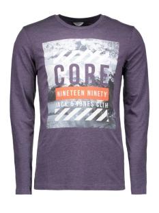 Jack & Jones T-shirt JCODONT TEE LS CREW NECK 12113844 Nightshade
