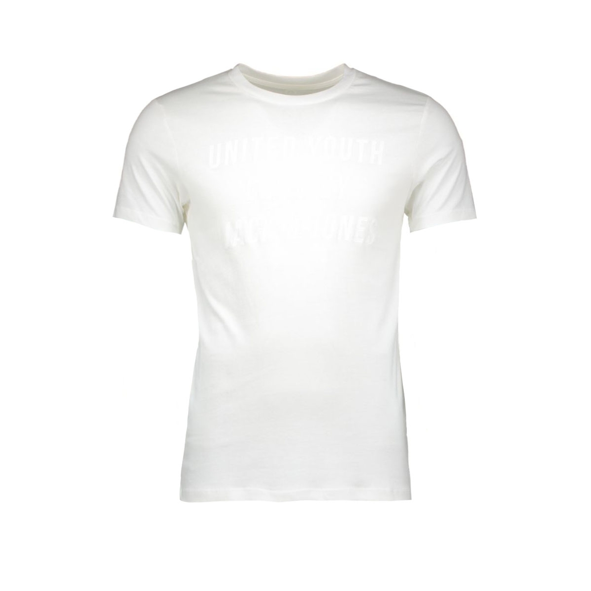 jcosharp tee ss crew neck 12108919 jack & jones t-shirt blanc de blanc