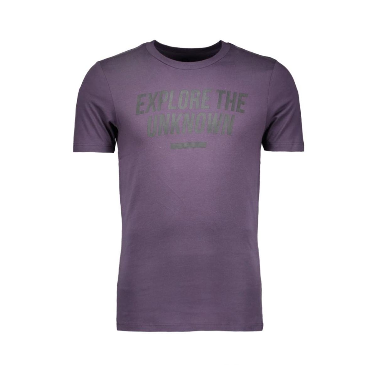 jcosharp tee ss crew neck 12108919 jack & jones t-shirt nightshade