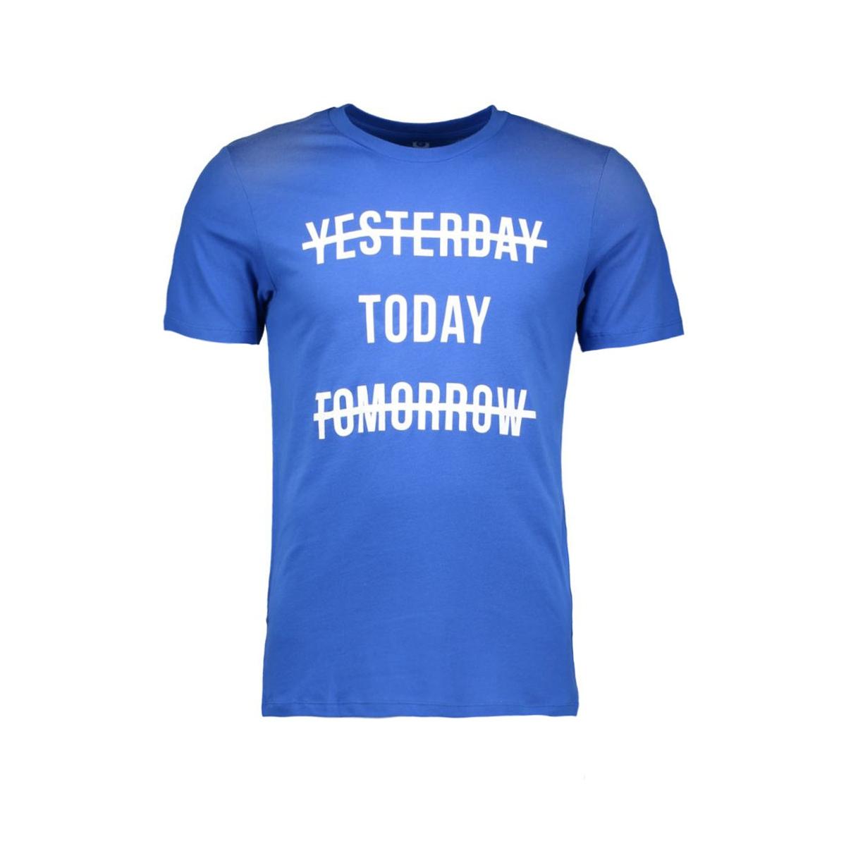 jcosharp tee ss crew neck 12108919 jack & jones t-shirt nautical blue