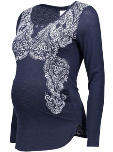 Mama-Licious Positie shirt MLPAILY L/S JERSEY TOP 20006667 Navy Blazer