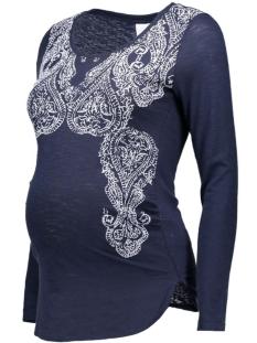 mlpaily l/s jersey top 20006667 mama-licious positie shirt navy blazer