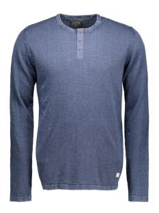 jjvbray knit granddad auw 12109856 jack & jones t-shirt dark denim/one fit