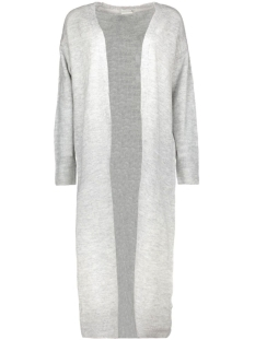 NMMILES L/S LONG KNIT CARDIGAN 10156511 Light Grey Melange
