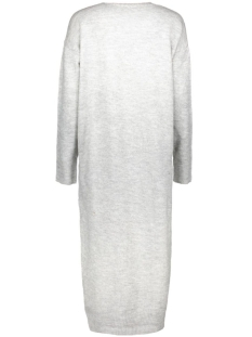 nmmiles l/s long knit cardigan 10156511 noisy may vest light grey melange