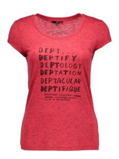 DEPT T-shirt 31101070 21907 intense red melange