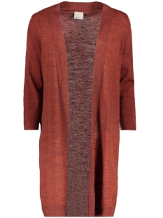 Vero Moda Vest VMCLEMENTINE COPENHAGEN 3/4 OPEN CARDIGA 10157573 Fired Brick/Melange