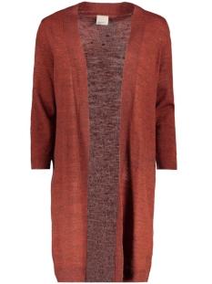 vmclementine copenhagen 3/4 open cardiga 10157573 vero moda vest fired brick/melange