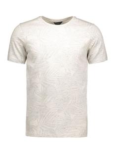 jpramy tee ss crew neck 12117044 jack & jones t-shirt light grey mela/tall