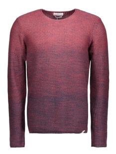 jorswing knit crew neck camp 12109553 jack & jones trui syrah/ knit fit