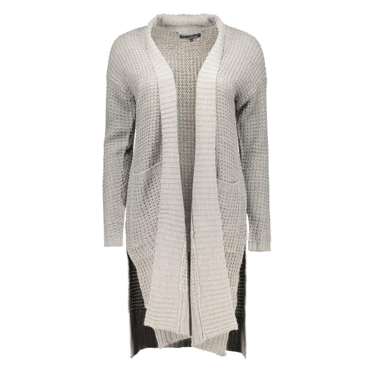 onlnew emma l/s open cardigan knt 15120860 only vest medium grey melange