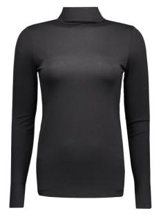 pcmila ls turtleneck 17071293 pieces t-shirt black