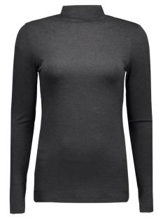Pieces T-shirts PCMILA LS TURTLENECK 17071293 Dark Grey Melange