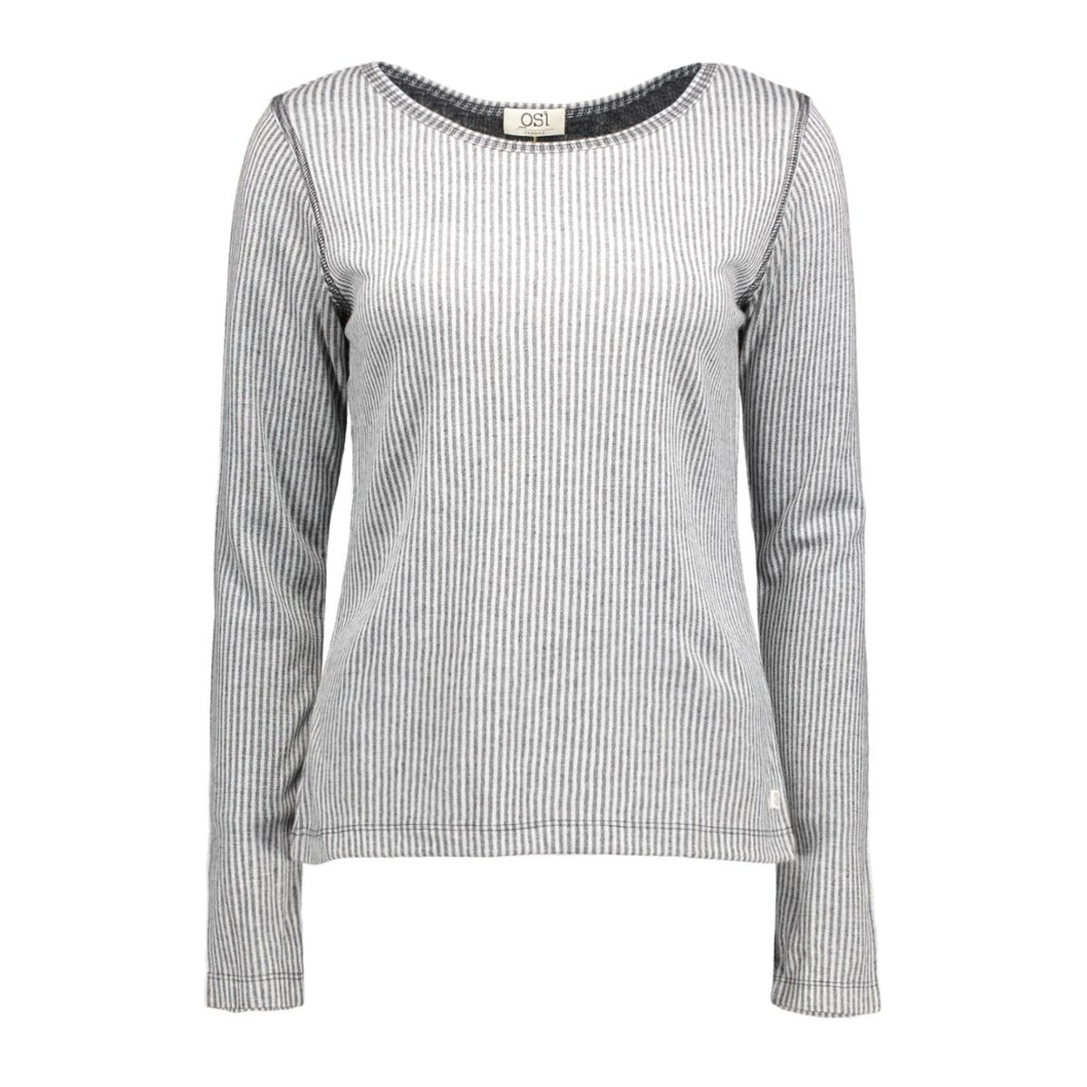 megan stripe osi femmes t-shirt dark grey