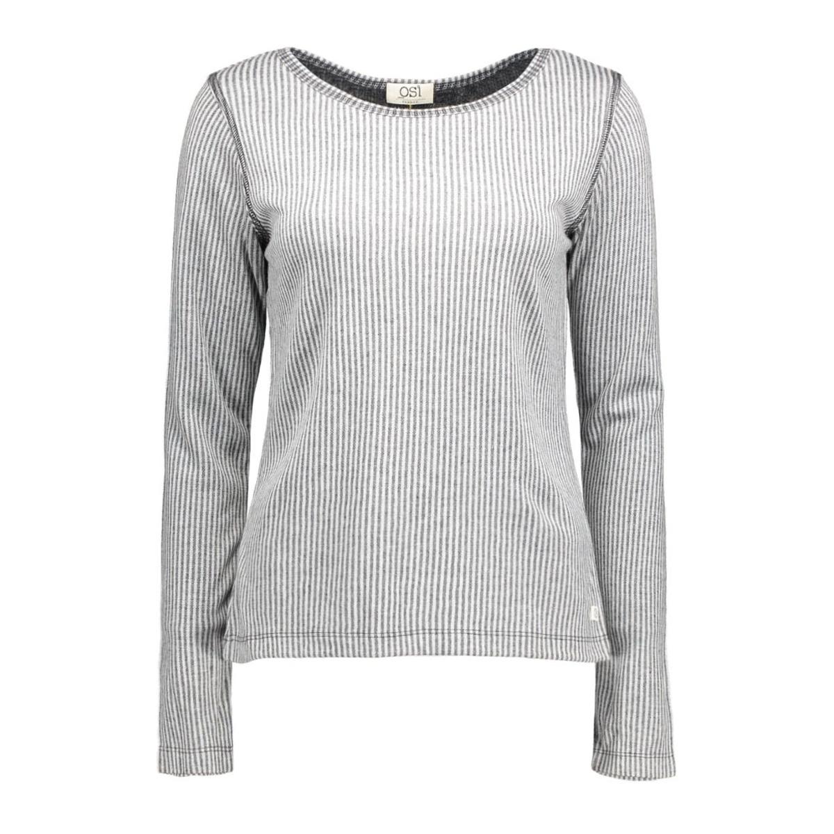 megan stripe osi femmes t-shirt dark grey