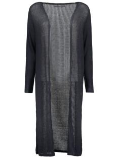 onldhaka l/s long slit cardigan knt 15120022 only vest dark navy/w. black m