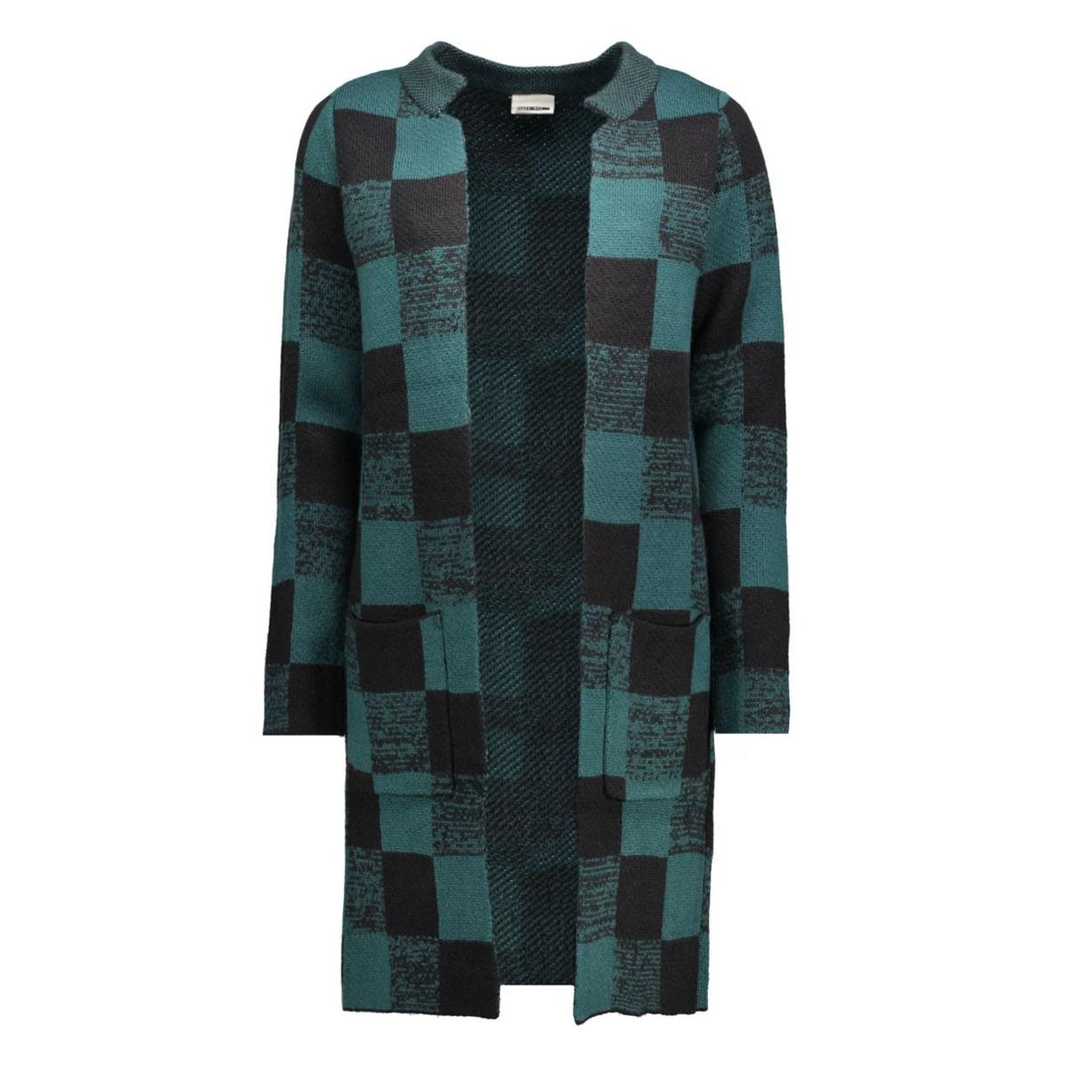 nmsinna l/s knit coatigan 10160215 noisy may vest black/ refecting