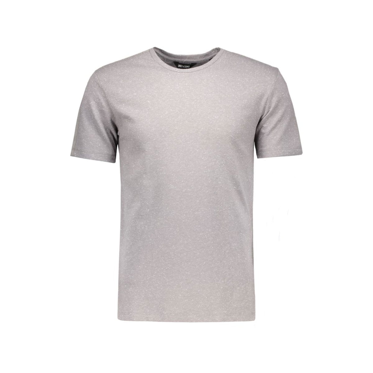 onsniels fitted tee 22004125 only & sons t-shirt medium grey melange