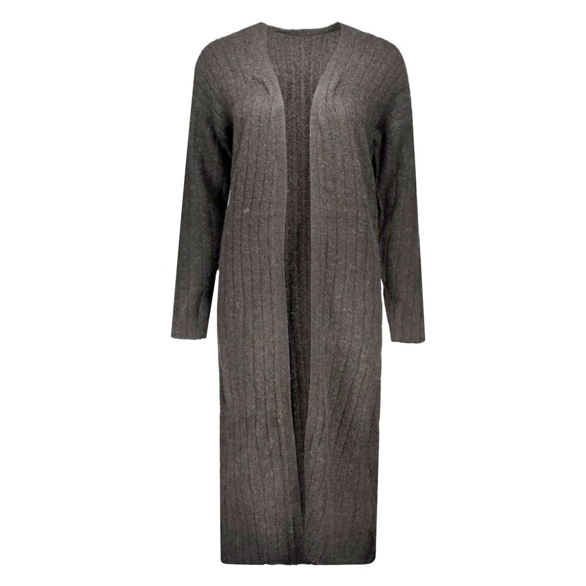 jdyraven l/s cardigan knt 15117353 jacqueline de yong vest dark grey melange