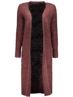 onlnew zadie l/s long cardigan knt 15121236 only vest fudge/w. black m
