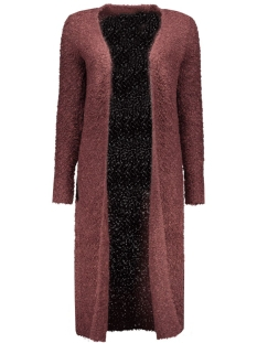 Only Vest onlNEW ZADIE L/S LONG CARDIGAN KNT 15121236 Fudge/W. BLACK M