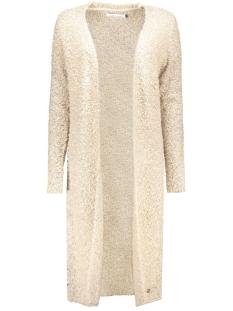 onlnew zadie l/s long cardigan knt 15121236 only vest pumice stone/w. black m