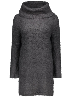 onlnew zadie l/s rollneck dress knt 15121795 only jurk dark navy/w. black m