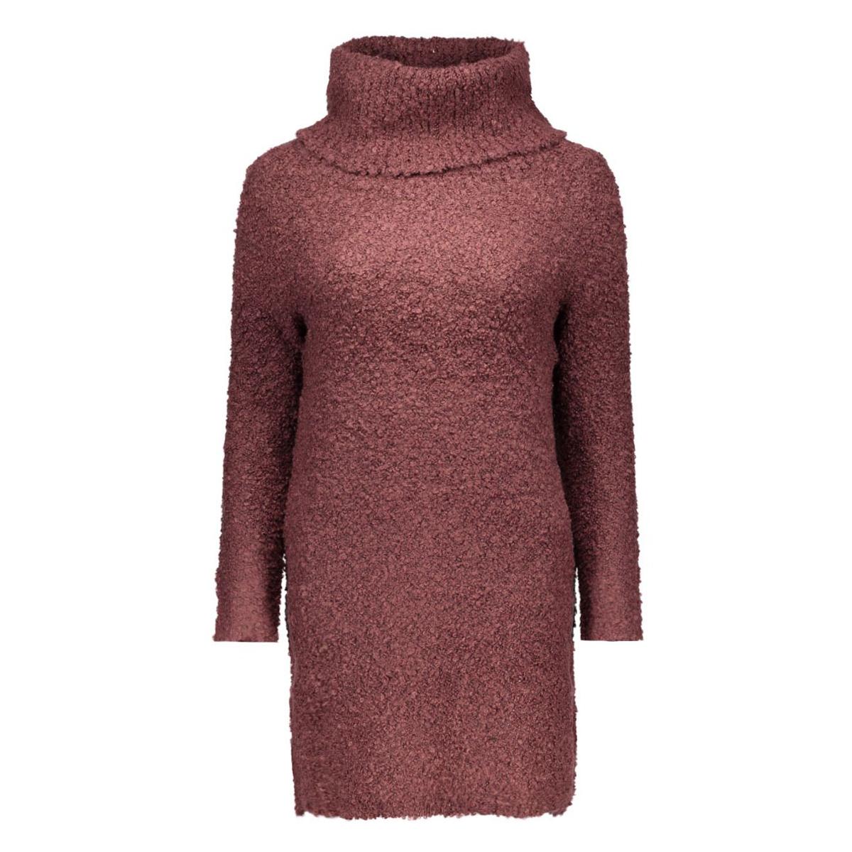 onlnew zadie l/s rollneck dress knt 15121795 only jurk fugde/w. black m