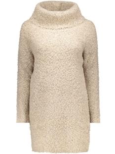 onlnew zadie l/s rollneck dress knt 15121795 only jurk pumice stone/w. black m