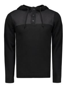 jcotravis knit hood 12113029 jack & jones sweater black/knit fit
